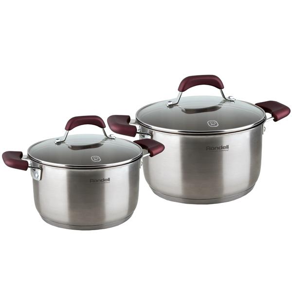 Набор посуды (нержавейка) Rondell Bojole RDS-822 2шт.: 3,3/5,6л