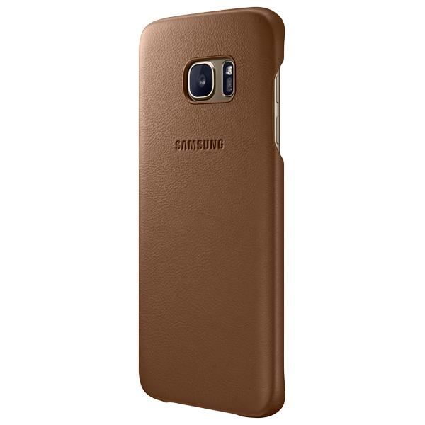 Чехол для сотового телефона Samsung Leather Cover S7 Edge Brown (EF-VG935LDEGRU) чехол клип кейс samsung protective standing cover great для samsung galaxy note 8 темно синий [ef rn950cnegru]