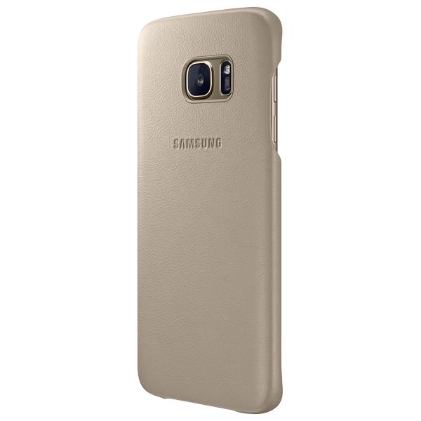 цена на Чехол для сотового телефона Samsung Leather Cover S7 Edge Beige (EF-VG935LUEGRU)