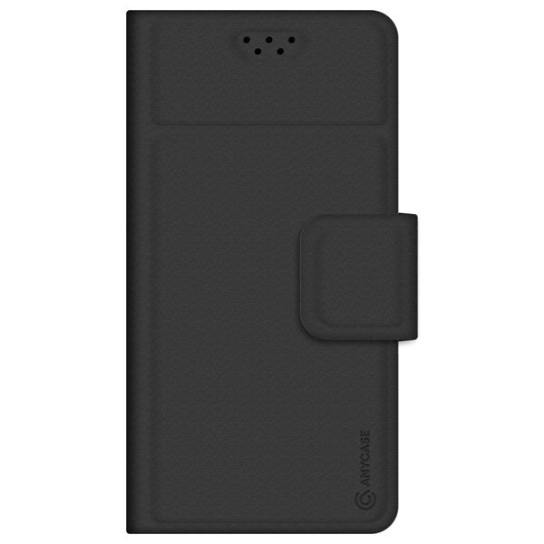 Универсальный чехол для смартфона Anycase Wallet 4.3''-5.5' Black черного цвета