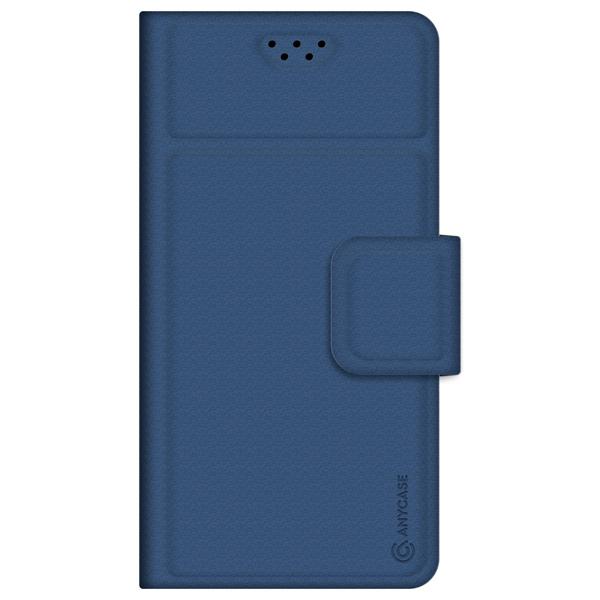 Универсальный чехол для смартфона Anycase Wallet 4.3''-5.5' Blue синего цвета