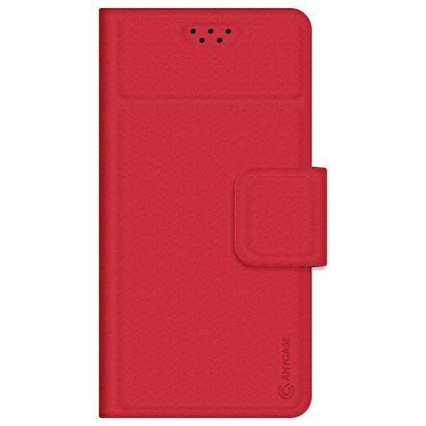 Универсальный чехол для смартфона Anycase Wallet 4.3''-5.5'' Red красного цвета