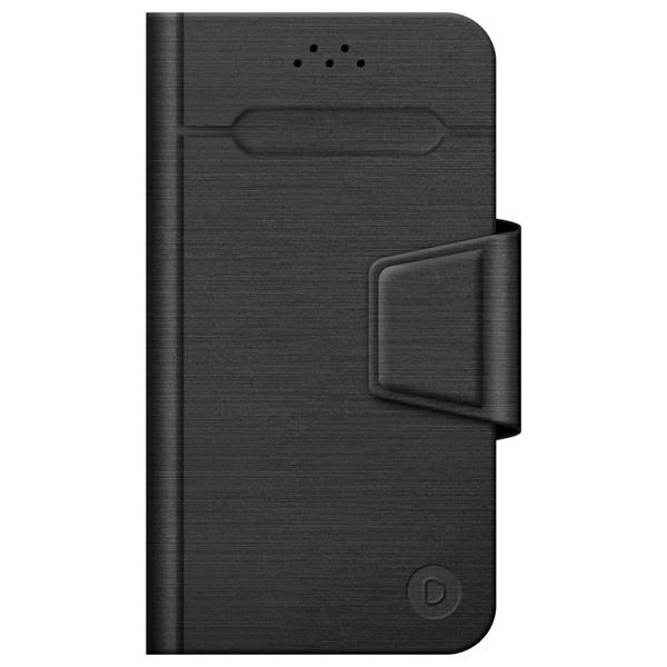Универсальный чехол для смартфона Deppa Wallet Fold M 4.3''-5.5'' Black deppa универсальный wallet slide m 4 3 5 5 purple