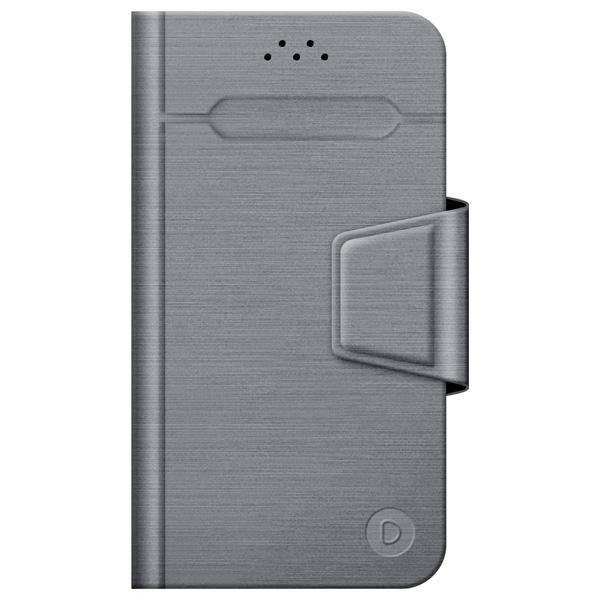 Универсальный чехол для смартфона Deppa Wallet Fold M 4.3''-5.5'' Grey