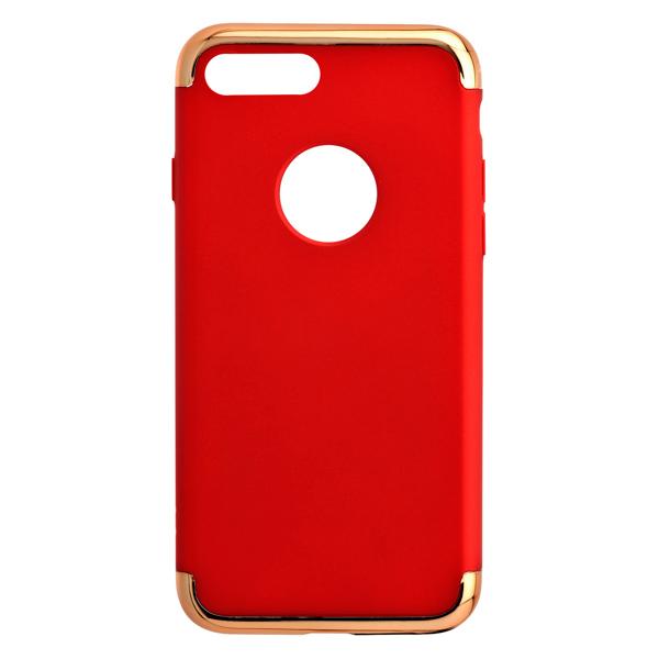 Чехол для iPhone Red Line Element для iPhone 7 Plus красный (золот.рамка) чехол для iphone interstep для iphone x soft t metal adv красный