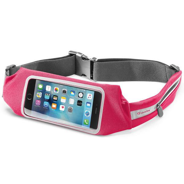 Спортивный чехол для сотового телефона Cellular Line WAISTBANDVIEWP розового цвета