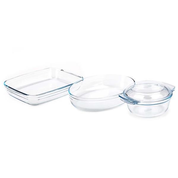 Форма для выпекания (стекло) Pyrex Original 3шт. (818S3) сковорода pyrex 30cm et30bfx 6 1294222