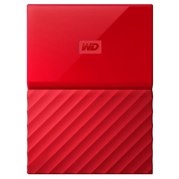Внешний жесткий диск 2.5 WD My Passport 1Tb Red (WDBBEX0010BRD-EEUE) small retractable plastic horn color assorted 5 pack