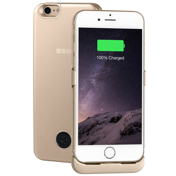 Чехол-аккумулятор InterStep для iPhone 7 Gold (IS-AK-PCIP73AGD-000B210) защитное стекло для iphone interstep для iphone 7 plus is tg iphon7pls 000b201