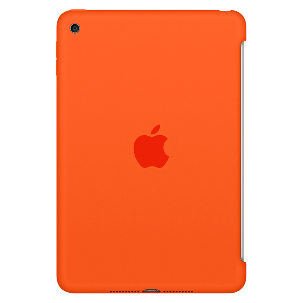 Кейс для iPad mini Apple iPad Mini 4 Silicon Case Orange (MLD42ZM/A) кейс для микшерных пультов thon mixer case powermate 1600 2