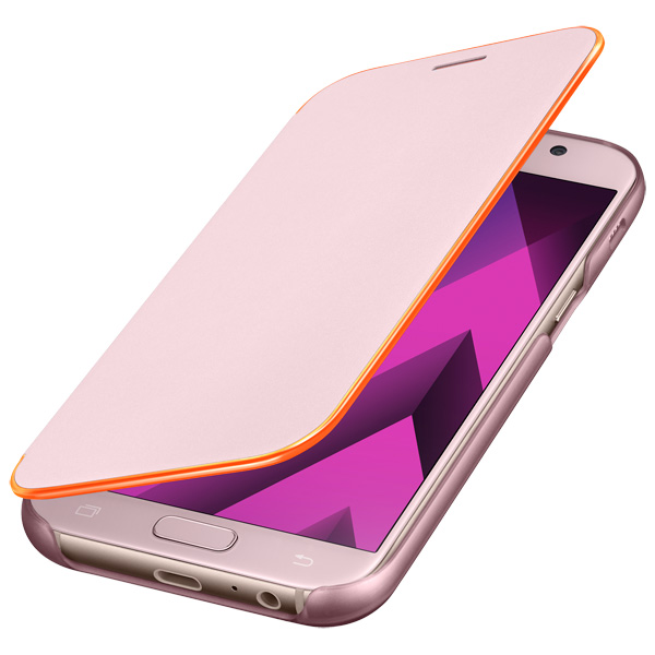 Чехол для сотового телефона Samsung A5 2017 Neon Flip Cover Pink zipit пенал neon pouch цвет розовый