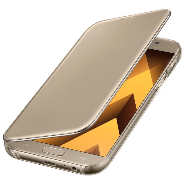 Чехол для сотового телефона Samsung A7 2017 Clear View Cover Gold чехол для samsung galaxy a7 2017 sm a720f clear view cover голубой