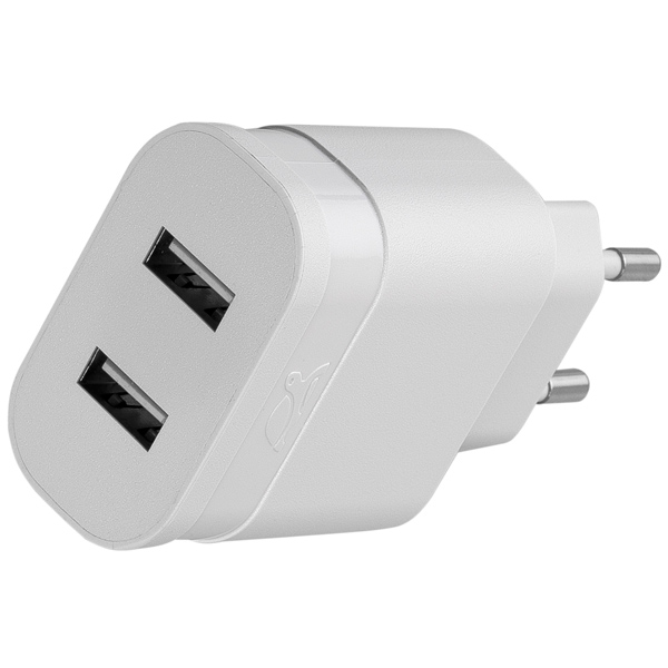 Сетевое зарядное устройство с кабелем RIVACASE 2 USB 3.4A + кабель microUSB (VA 4123 WD1)
