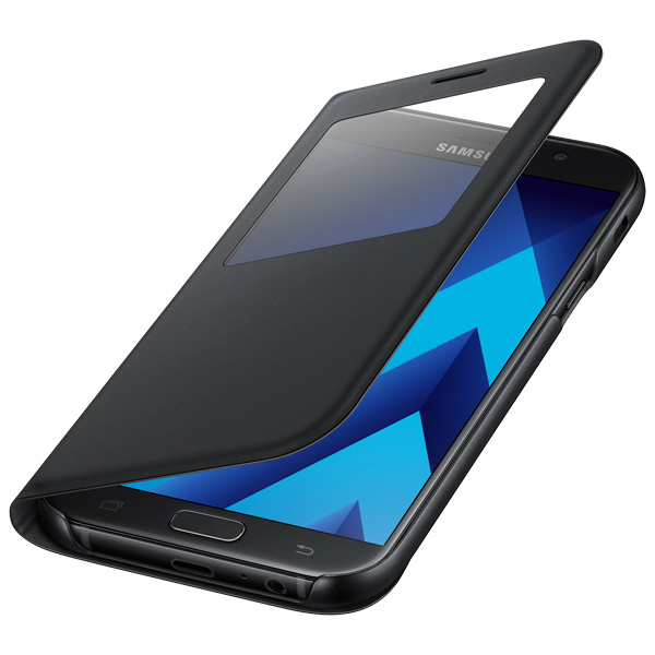 Чехол для сотового телефона Samsung A7 2017 S View Standing Cover Black чехол samsung s view standing для galaxy a7 2017 a720 ef ca720plegru blue