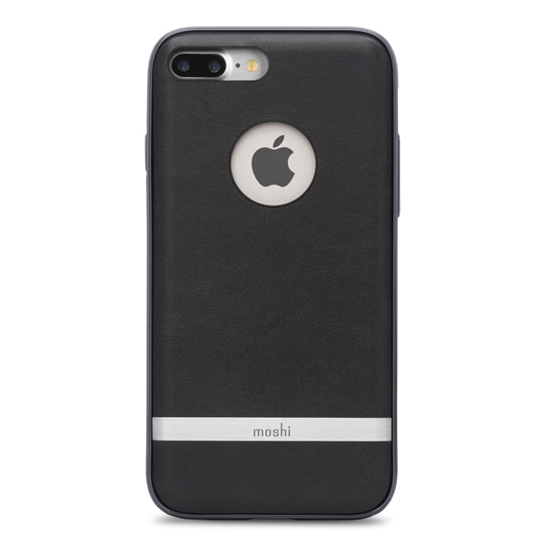 Чехол для iPhone Moshi iGlaze Napa Charcoal Black (99MO090003) чехол для iphone moshi для iphone 7 napa charcoal black 99mo088003