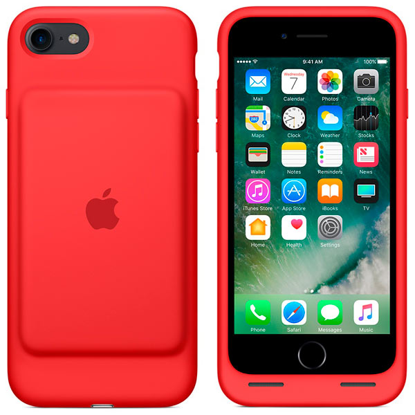 Чехол-аккумулятор Apple iPhone 7 Smart Battery Case(PRODUCT)RED MN022ZM/A чехол для iphone apple iphone se leather case product red mr622zm a