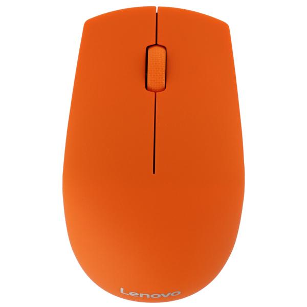Lenovo, Мышь беспроводная, 500 Orange (GX30H55940)