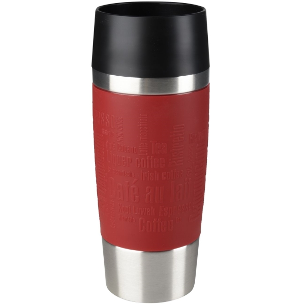 Термокружка Emsa Travel Mug 0,36L Red (513356) термокружка emsa travel mug fun 0 36l black 514179