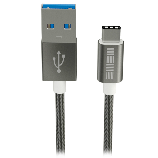 Кабель USB Type-C InterStep USB 3.0 Neylon Space Gray 1m (IS-DC-TYPCUSNSG-000 кабель usb type c interstep usb 3 0 нейлон 2м is dc typcusnsg 200b210