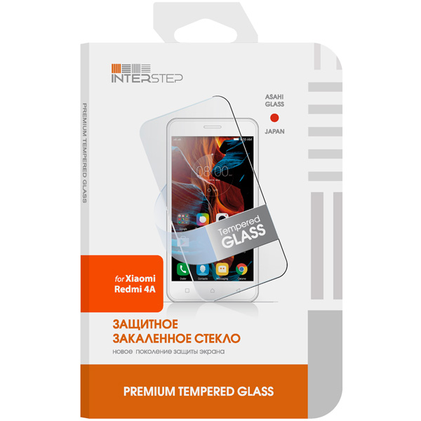 Защитное стекло InterStep для Xiaomi Redmi 4A (IS-TG-XIAR4ACLR-000B201) защитное стекло interstep для nokia 5 black is tg nokia5fsb 000b201