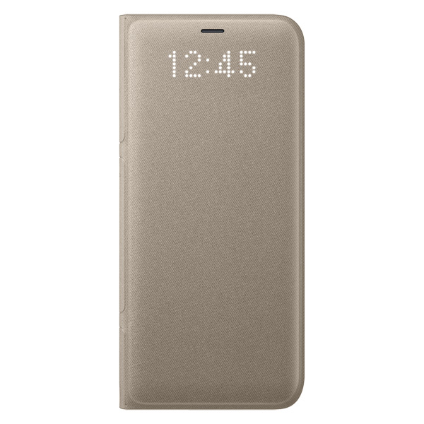 Чехол для сотового телефона Samsung Galaxy S8 LED View Cover Gold (EF-NG950PFEGRU) чехол книжка samsung led view cover для samsung galaxy s8 голубой ef ng950plegru