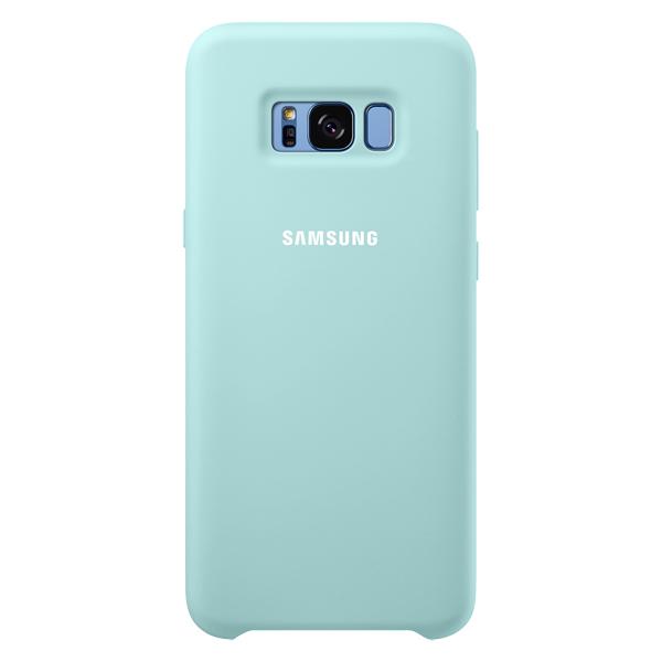 Samsung, Чехол для сотового телефона, Galaxy S8+ Silicone Light Blue (EF-PG955TLEGRU)