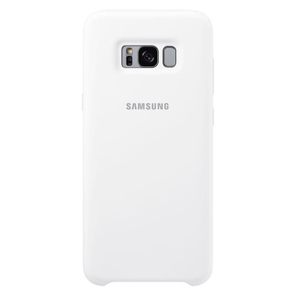 Чехол для сотового телефона Samsung Galaxy S8+ Silicone White  (EF-PG955TWEGRU) чехол клип кейс samsung alcantara cover для samsung galaxy s8 розовый [ef xg950apegru]