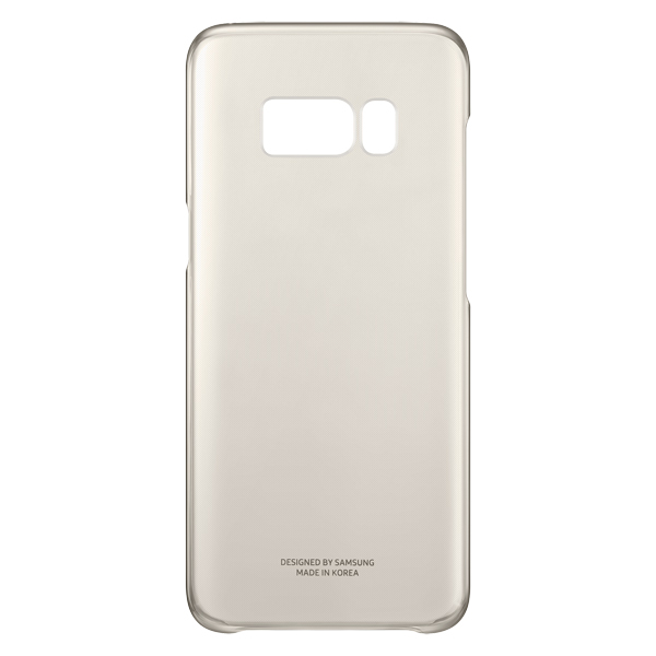 Чехол для сотового телефона Samsung Galaxy S8 Clear Cover Gold (EF-QG950CFEGRU) аксессуар чехол samsung galaxy s8 plus silicone cover purple ef pg955tvegru