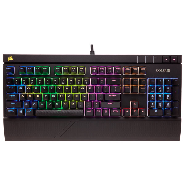 Игровая клавиатура Corsair Gaming Strafe RGB Silent (CH-9000121-RU) клавиатура corsair gaming k70 rapidfire cherry mx speed black usb [ch 9101024 ru]