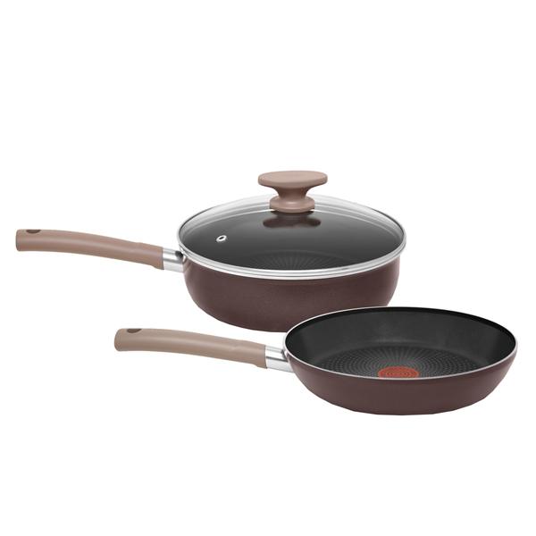 Набор посуды (антипригарное покрытие) Tefal Tendance Chocolate 2шт. по 24см (04157830) набор сковородок tefal tendance chocolate 04147820 2 предмета