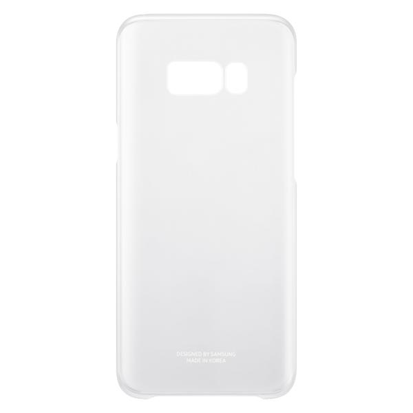 Чехол для сотового телефона Samsung Galaxy S8+ Clear Silver (EF-QG955CSEGRU) чехол клип кейс samsung alcantara cover для samsung galaxy s8 розовый [ef xg950apegru]