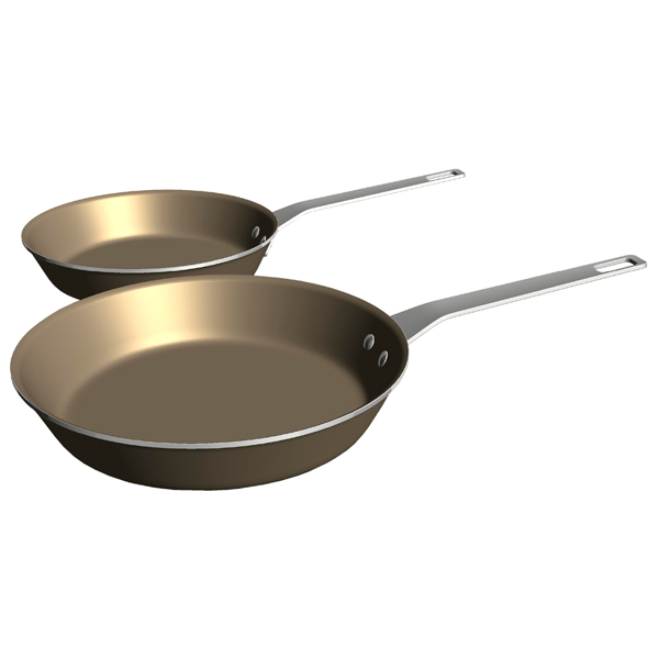 Набор посуды (антипригарное покрытие) Electrolux E9KLFPS2 2шт.: 26/30см