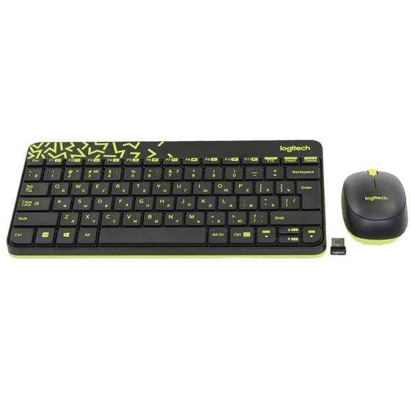 Комплект клавиатура+мышь Logitech MK240 Nano Black клавиатура мышь logitech mk240 usb белый 920 005791