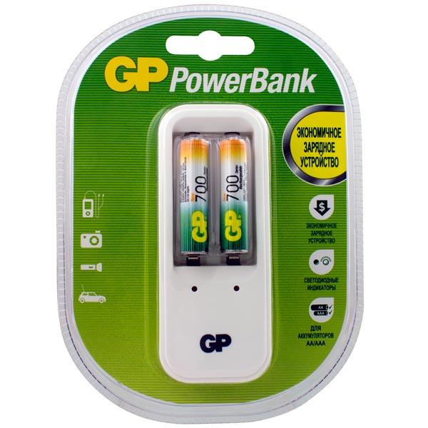 Зарядное устройство + аккумуляторы GP PB410 и 2 аккум. PRO ААA (LR03) (PB410GS70-2CR2)