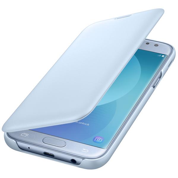 Чехол для сотового телефона Samsung Galaxy J5 (2017) Wallet Blue (EF-WJ530CLEGRU) чехол для samsung galaxy j5 2017 samsung wallet cover ef wj530clegru
