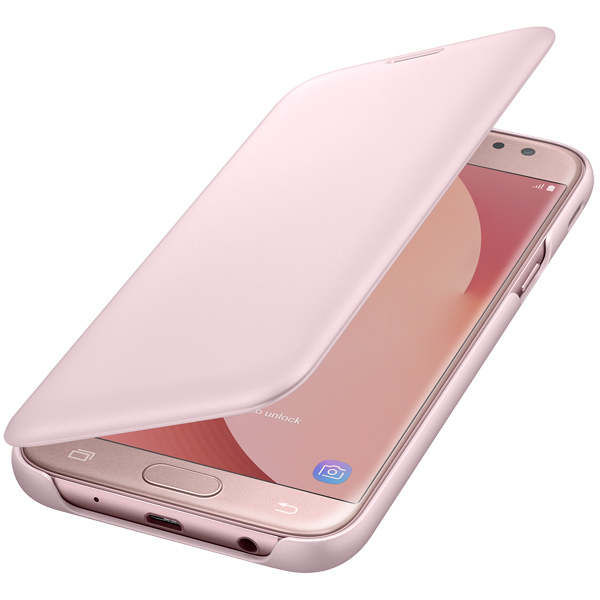 Samsung, Чехол для сотового телефона, Galaxy J5 (2017) Wallet Pink (EF-WJ530CPEGRU)