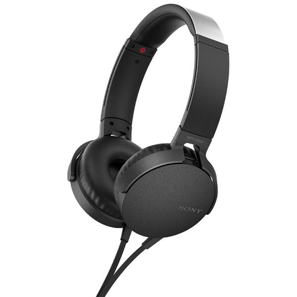Наушники накладные Sony XB550AP Extra Bass Black (MDRXB550APBC(Е)) 1more super bass headphones black and red