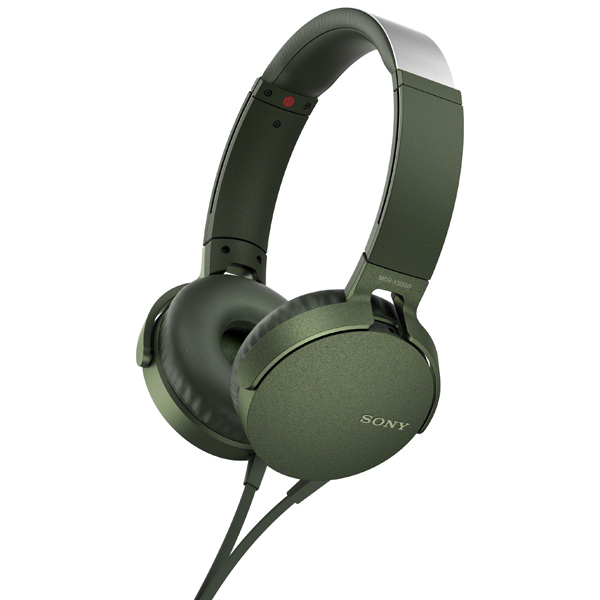 Наушники накладные Sony — XB550AP Extra Bass Green (MDRXB550APGC(Е))