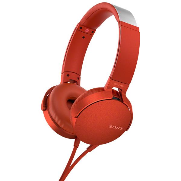 Купить Наушники накладные Sony XB550AP Extra Bass Red (MDRXB550APRC(Е)) в каталоге интернет магазина М.Видео по выгодной цене с доставкой, отзывы, фотографии - Ростов-на-Дону