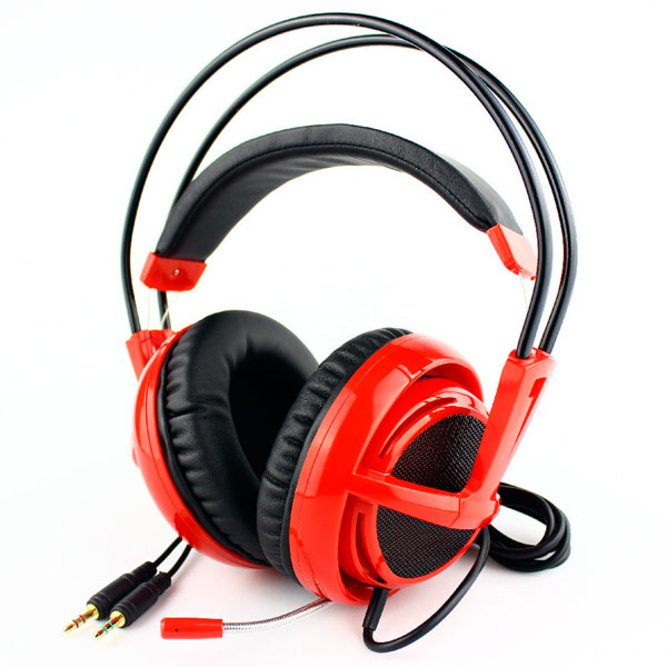 Игровые наушники Steelseries Siberia v2 Full-Size Headset MSI Edition wavelets processor