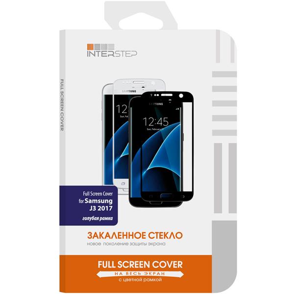 Защитное стекло InterStep для Samsung J3 (2017) Blue