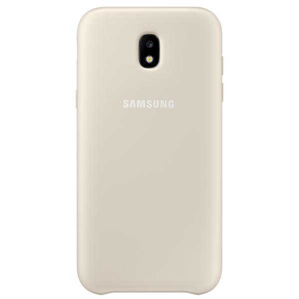 Чехол Samsung Galaxy J3 (2017) Dual Layer Gold (EF-PJ330CFEGRU) чехол samsung ef pj530cpegru для samsung galaxy j5 2017 dual layer cover розовый