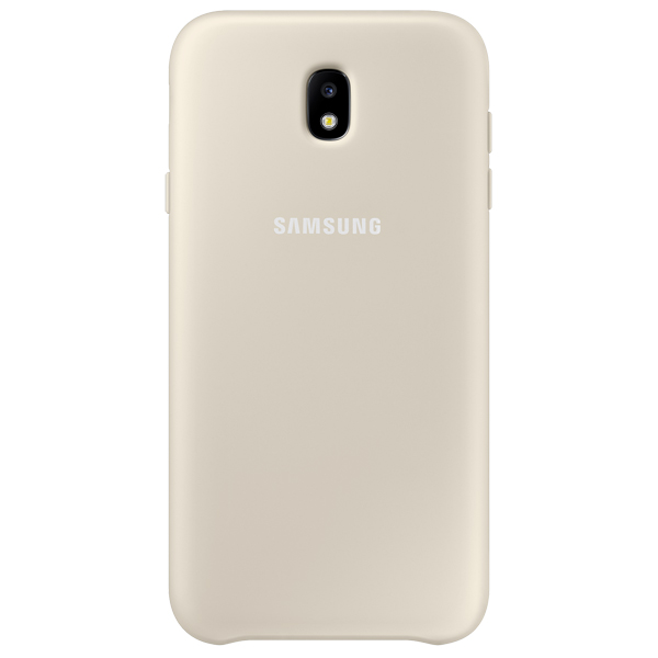 Чехол для сотового телефона Samsung Galaxy J7 (2017) Dual Layer Gold (EF-PJ730CFEGRU) чехол samsung ef pj530cpegru для samsung galaxy j5 2017 dual layer cover розовый