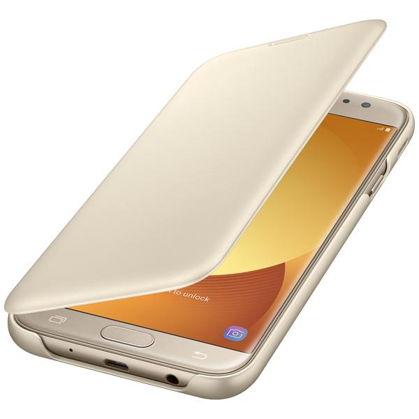 Чехол Samsung Galaxy J7 (2017) Wallet Gold (EF-WJ730CFEGRU) чехол флип кейс samsung для samsung galaxy j7 2017 flip wallet золотистый ef wj730cfegru