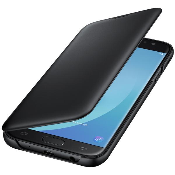 Чехол для сотового телефона Samsung Galaxy J7 (2017) Wallet Black (EF-WJ730CBEGRU) чехол для смартфона samsung galaxy j7 2017 flip wallet розовый ef wj730cpegru ef wj730cpegru