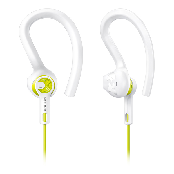 Спортивные наушники Philips ActionFit RunWild White/Green (SHQ1400LF/00) гарнитура philips she1455 white