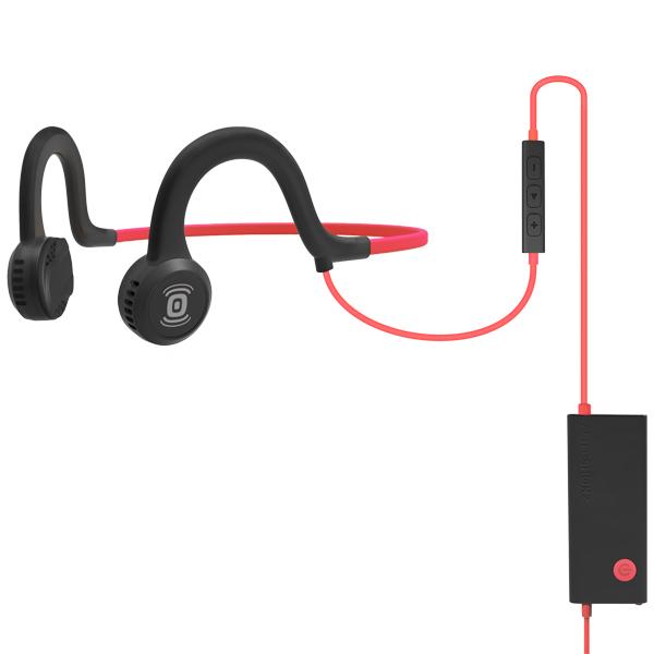 Наушники с костной проводимостью звука AfterShokz Sportz Titanium with Mic Lava Red (AS451)
