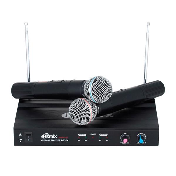 Микрофон беспроводной Ritmix RWM-221 (2шт.)