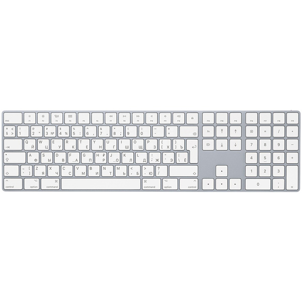 Клавиатура беспроводная Apple Magic Keyboard with Numeric Keypad (MQ052RS/A) apple mb110ru b keyboard with numeric keypad проводная white