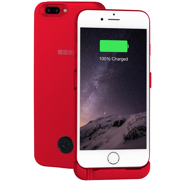 Чехол-аккумулятор InterStep для iPhone 7 Plus/6 Plus 5000мАч Red чехол для iphone interstep для iphone x soft t metal adv красный